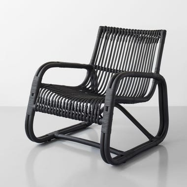 Curve Black Lounge Chair