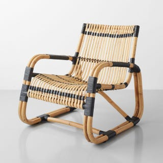 Curve Natural and Black Lounge Chair