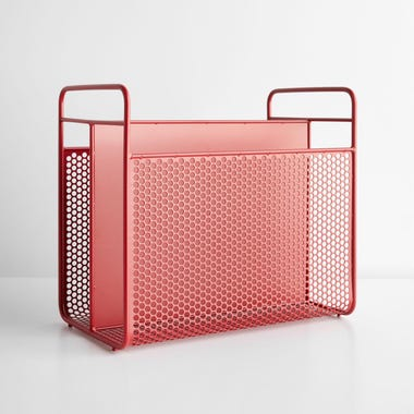 Analog Red Magazine Rack