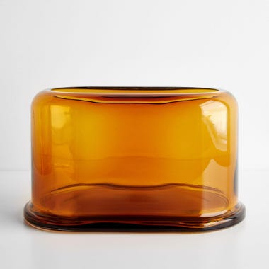 Layers Amber Large Vase