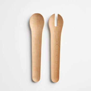 Beech Wood Salad Server Set