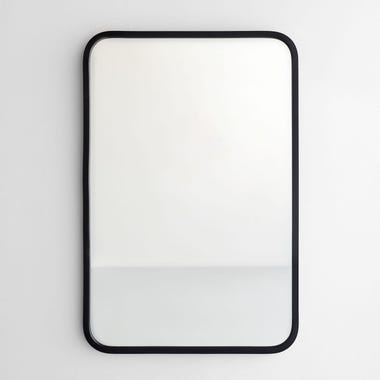 "Hub Black Rectangle Wall Mirror 24"" x 36"""