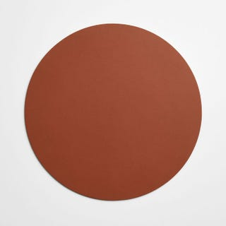 Dot Cognac Round Leather Placemat