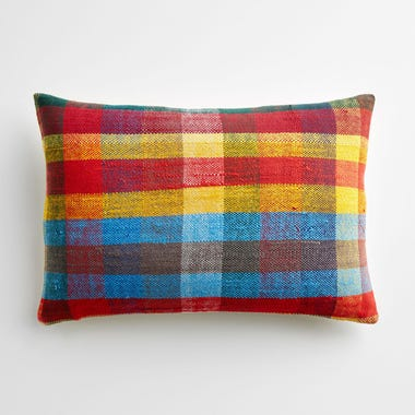 """Bromley Plaid Throw Pillow Cover 12"""" x 18"""""""