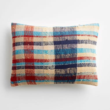 "Marlow Plaid Throw Pillow Cover 12"" x 18"" #1"
