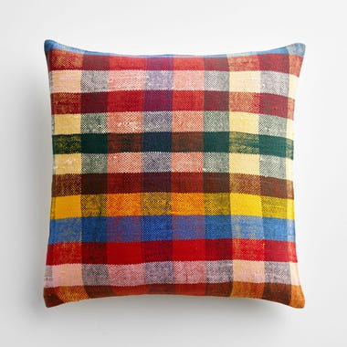 """Bromley Plaid Throw Pillow Cover 17"""" x 17"""""""