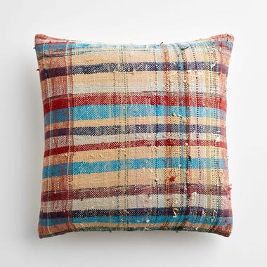 "Marlow Plaid Throw Pillow Cover 17"" x 17"" #3"