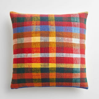 "Bromley Plaid Throw Pillow Cover 20"" x 20"""