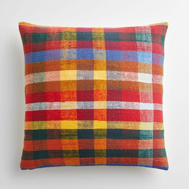 """Bromley Plaid Throw Pillow Cover 20"""" x 20"""""""