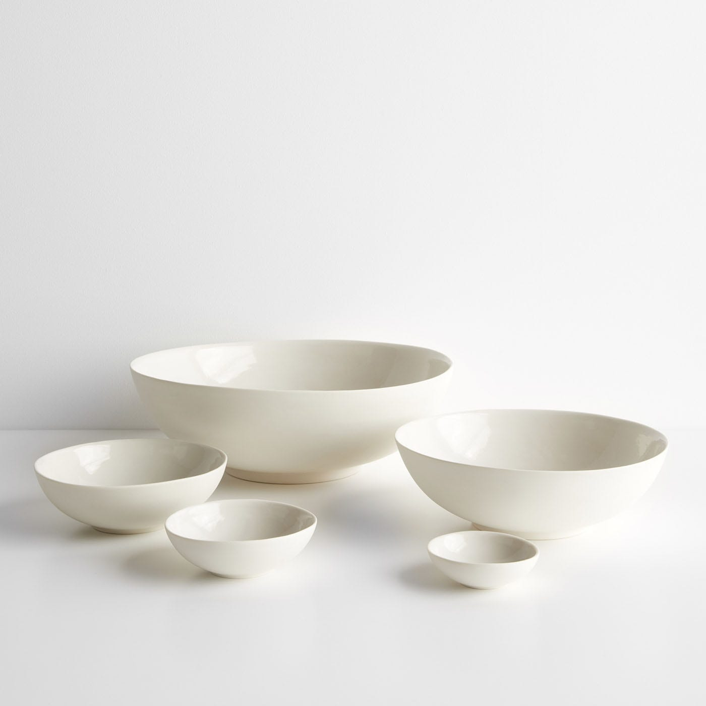 Marcy Ivory White Nesting Bowls Set of 5