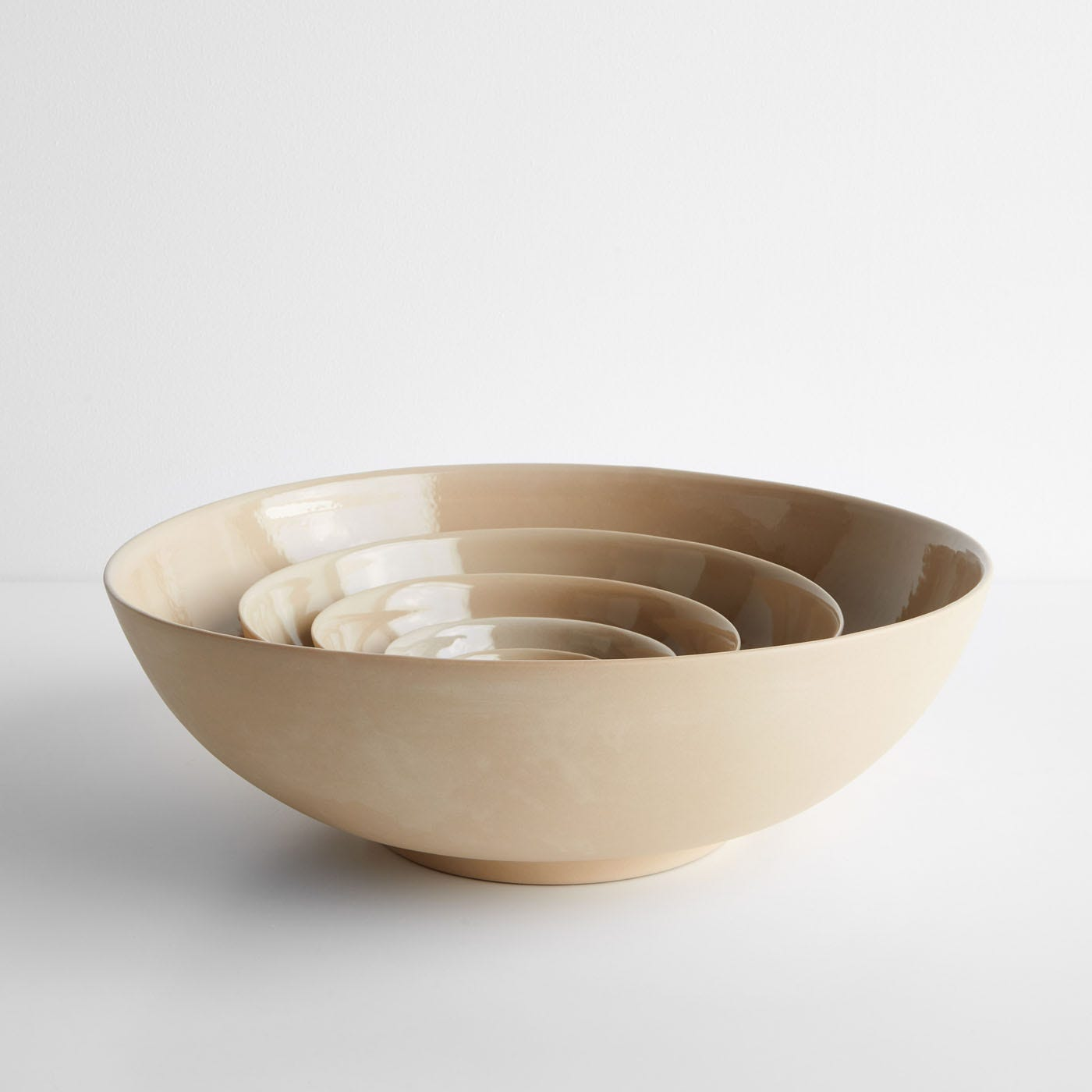 Marcy Woodland Beige Nesting Bowls Set of 5