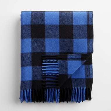 Buffalo Check Blue and Black Throw Blanket