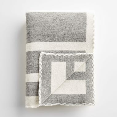 Reversible Framed Stripe Throw Blanket