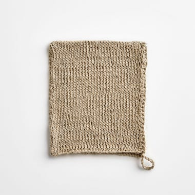 Linen Knit Natural Washcloth