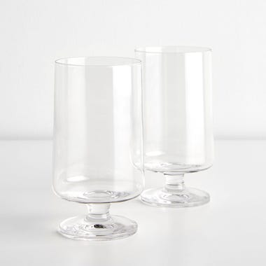 Stub Stackable Tall Glasses 12.2oz Set of 2