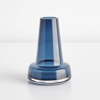 Flora Dark Blue Small Vase