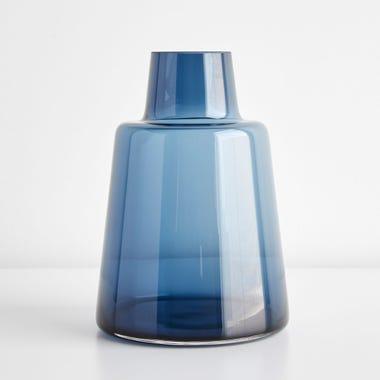 Flora Dark Blue Large Vase