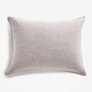 Burgundy Chambray Linen Pillowcase Standard Set of 2