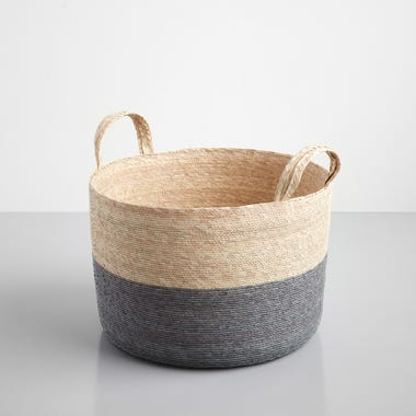 Gray Band Loma Basket 15.75""