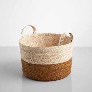 "Ochre Band Loma Basket 15.75"""