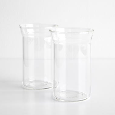 Angle Bold Clear Highball Glasses Set of 2