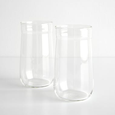 Angle Bell Clear Highball Glasses Set of 2