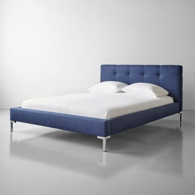 Wells Linen Navy Bed