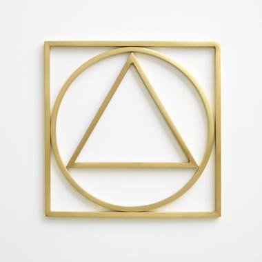 Geometry Brass Trivets Set of 3