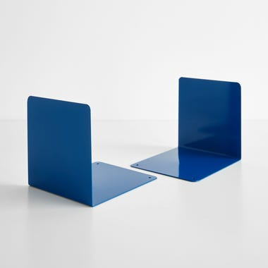 Blue Steel Bookends Set of 2