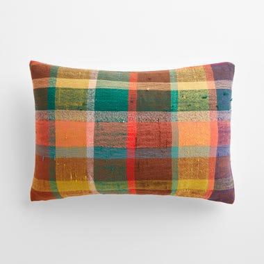 """Milton Plaid Throw Pillow Cover 12"""" x 18"""""""