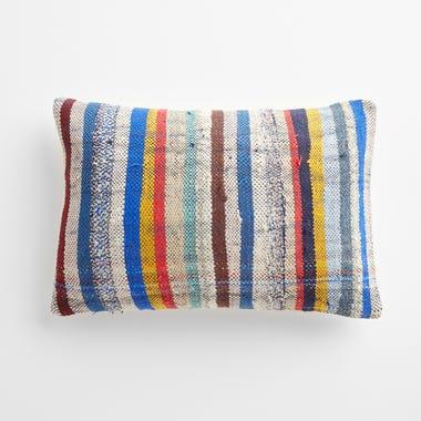 "Gedling Stripe Throw Pillow Cover 12"" x 18"""