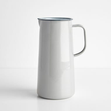 Falcon Oyster Gray Enamelware 3 Pint Pitcher