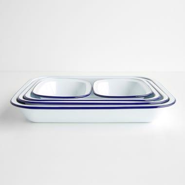 Falcon White Enamelware 5pc Bake Set