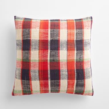 "Sefton Plaid Throw Pillow Cover 17"" x 17"""