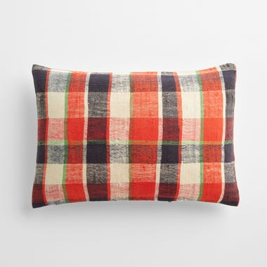"Sefton Plaid Throw Pillow Cover 12"" x 18"""
