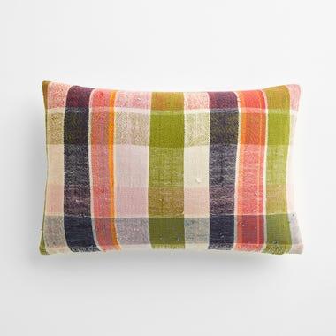 "Taunton Plaid Throw Pillow Cover 12"" x 18"" #1"