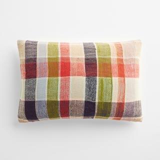 "Taunton Plaid Throw Pillow Cover 12"" x 18"""