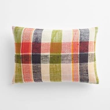 "Taunton Plaid Throw Pillow Cover 12"" x 18"" #4"