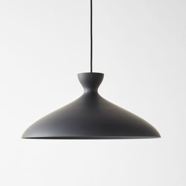 Pretty Wide Black Pendant Lamp