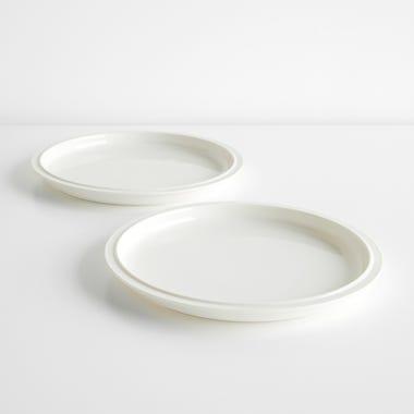Tinge White Porcelain Dinner Plates Set of 2