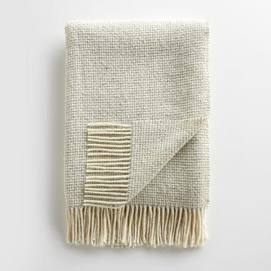 Mended Tweed Silver Gray Throw Blanket