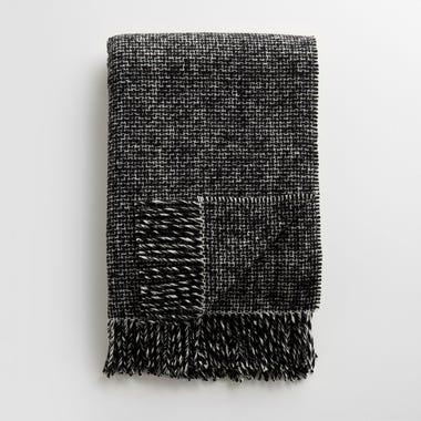 Mended Tweed Monochrome V Throw Blanket