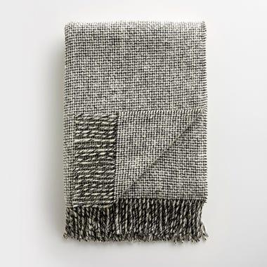 Mended Tweed Monochrome IV Throw Blanket