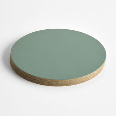 Dot Forest Round Leather Coasters Set of 4