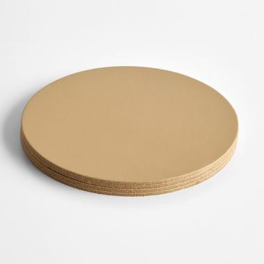 Dot Sand Round Leather Coasters Set of 4