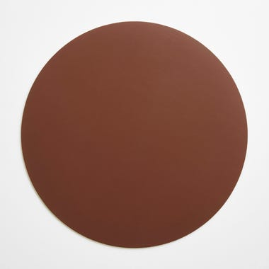 Dot Pecan Round Leather Placemat