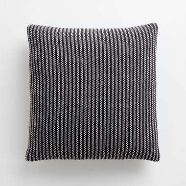 "Birds Eye Stripe Knit Throw Pillow Cover 18"" x 18"""