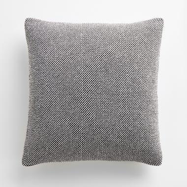 "Birds Eye Tweed Knit Throw Pillow Cover 18"" x 18"""