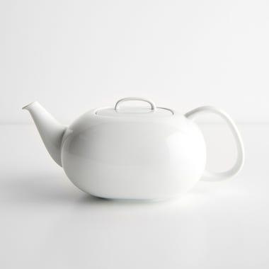 Moon White Teapot