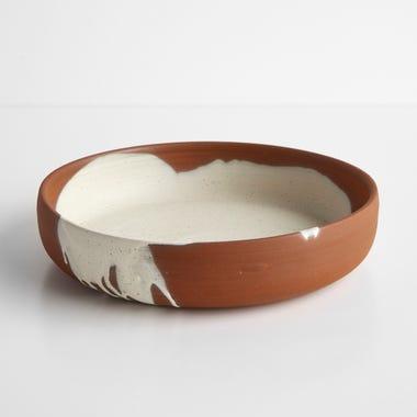 Ilog Oatmeal and Terracotta Serve Bowl